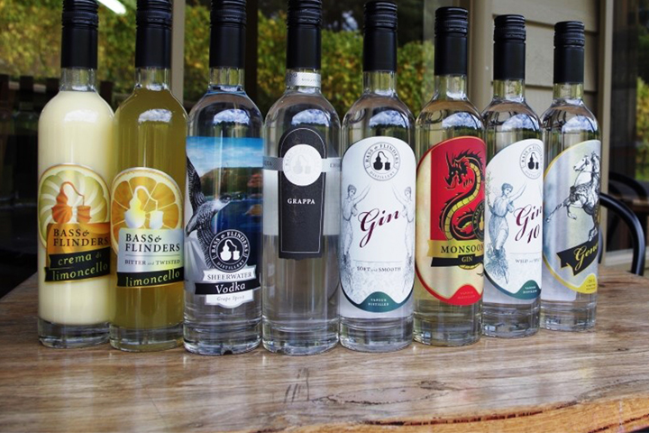 Bass and Flinders spirits tasting