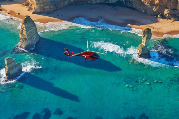 12 apostles helicopter fly over